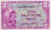 2 Mark 1948 Bank Deutscher Länder  kassenfrisch  392.45 US$ 350,00 EUR