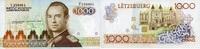 1.000 Francs  Luxemburg Pick 59a unc/kassenfrisch  89,00 EUR