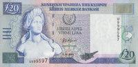 20 Pounds  Zypern Pick 63b unc  105,00 EUR  +  6,50 EUR shipping