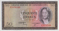 Luxemburg 50 Francs  unc  128.34 US$