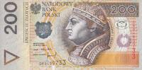200 Zlotych 25.3.1994/95 Polen P.177a unc/kassenfrisch  100,00 EUR  +  6,50 EUR shipping