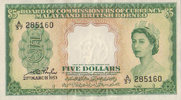 5 Dollars  Malaya and British Borneo P 2a 1-  330,00 EUR  +  6,50 EUR shipping