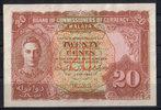20 Cents  Malaya P 9a 1/1-  149.48 US$ 130,00 EUR  +  7.47 US$ shipping