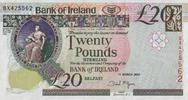 20 Pounds 01.3.2005 Bank of Irland Pick 80b unc/kassenfrisch  100,00 EUR