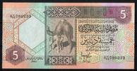 5 Dinars ND(1991) Libyen Pick 60c unc/kassenfrisch  18,00 EUR