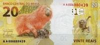 20 Reais 2010/2012 Brasilien Pick 255 Serie A. unc/kassenfrisch  15,00 EUR  +  6,50 EUR shipping
