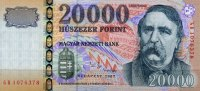 Ungarn 20.000 Forint 2007 unc  140,00 EUR 