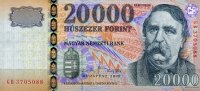 Ungarn 20.000 Forint 2008 unc  140,00 EUR 