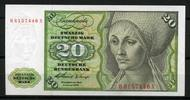 Deutsche Bundesbank 20 Mark 1960 1  72,00 EUR