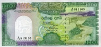 Sri-Lanka 1.000 Rupees 21.2.1989 unc  57,00 EUR 