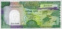 1.000 Rupees 21.2.1989 Sri-Lanka P.101 unc  55,00 EUR  +  6,50 EUR shipping