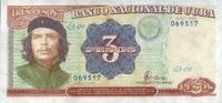 3 Pesos 1995 Cuba Pick 113 unc/kassenfrisch  6,00 EUR  +  6,50 EUR shipping