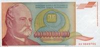 500.000.000.000 Milliarden Dinara 1993 Jugoslawien Pick 137a unc/kassen... 7,50 EUR  +  6,50 EUR shipping