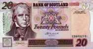 Bank of Scotland 20 Pounds 26.11.2003 unc  62,00 EUR