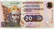 20 Pounds 12.10.1999 Clydesale Bank  PLC Pick 228b unc/kassenfrisch  90,00 EUR