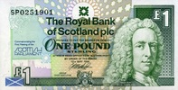 1 Pound 12.5.1999 The Royal Bank of Scotland Pick 360 unc/kassenfrisch  9,50 EUR  +  6,50 EUR shipping