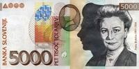 5.000 Tolarjew 15.1.2002 Slowenien Pick 33a unc/kassenfrisch  70,00 EUR  +  6,50 EUR shipping