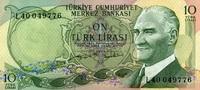 10 Lira 1970 Türkei Pick 186 unc/kassenfrisch  3,50 EUR  +  6,50 EUR shipping