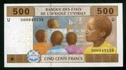 500 Francs 2002 Zentral-Afrika Staaten Pick 206 U unc/kassenfrisch  3,50 EUR