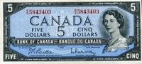 5 Dollars (1961-1972) Canada Pick 77b unc  55,00 EUR