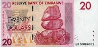 20 Dollars 2007 Zimbabwe Pick 68 unc  1,50 EUR  +  6,50 EUR shipping