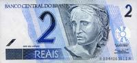 2 Reais 2001 Brasilien Pick 249a unc  3,00 EUR
