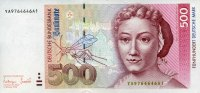 Deutsche Bundesbank 500 Mark 01.10.1993 unc/kassenfrisch  600,00 EUR