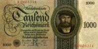 1.000 Reichsmark 11.10.1924 Deutsche Reichsbank Ros.172a 1/1-  399,00 EUR  +  6,50 EUR shipping