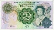50 Pounds ND(1983) Isle of Man Pick 39a unc/kassenfrisch  180,00 EUR  +  6,50 EUR shipping