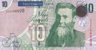 Irland Northern Bank Ltd 10 Pounds  unc