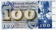 100 Franken 21.1.1965 Schweiz Pick 49 1-  115,00 EUR  +  6,50 EUR shipping
