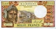1.000 Francs (1988) Djibouti Pick 37b unc/kassenfrisch  67.28 US$ 60,00 EUR
