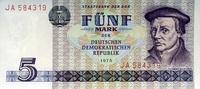 5 Mark 1975 Staatsbank der DDR 1971-1989 Ros.361a Thomas Müntzer. unc/k... 6,00 EUR  +  6,50 EUR shipping