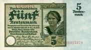 5 RENTENMARK 02.1.1926 DEUTSCHE RENTENBANK 1923-1937 - Ros.164b Bauernm... 194.41 US$ 175,00 EUR  +  7.22 US$ shipping