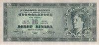 10 Dinara  Jugoslawien Pick 67s unc  70,00 EUR  +  6,50 EUR shipping