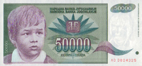 50.000 Dinara  Jugoslawien Pick 117 unc  2,00 EUR  +  6,50 EUR shipping