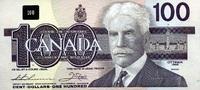 100 Dollars 1988 Canada P.99a unc/kassenfrisch  233.29 US$ 210,00 EUR  +  7.22 US$ shipping