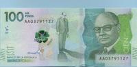 100.000 Pesos 08.8.2014(2016) Kolumbien - New Design - Polymer - Carlos... 65,00 EUR  +  6,50 EUR shipping
