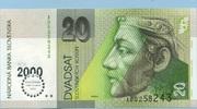 20 Korun 01.9.1999 Slovakia P.20a unc/kassenfrisch  3,50 EUR  +  6,50 EUR shipping