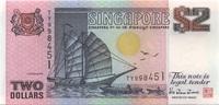 2 Dollars ND(1997) Singapore P.34 unc/kassenfrisch  4,00 EUR  +  6,50 EUR shipping
