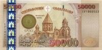 50.000 Dram 2001 Armenien P.48 unc/kassenfrisch  235,00 EUR  +  6,50 EUR shipping