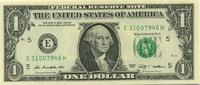 1 Dollar Serie 2009 USA P.530-E unc/kassenfrisch  2,00 EUR  +  6,50 EUR shipping