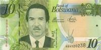 10 Pula 2012 Botswana P.30c unc/kassenfrisch  3,00 EUR  +  6,50 EUR shipping