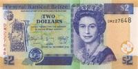 2 Dollars 01.11.2014 Belize P.66e/2014 unc/kassenfrisch  3,00 EUR  +  6,50 EUR shipping
