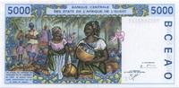5.000 Francs 2000 West-Afrika - T für Togo - Frauenkopf/Marktszene - un... 35,00 EUR  +  6,50 EUR shipping