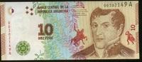10 Pesos 2016 Argentinien P.362a unc/kassenfrisch  3,20 EUR  +  6,50 EUR shipping