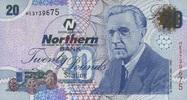 20 Pounds 06.11.2005 Nord-Irland P.207a/2005 unc/kassenfrisch  80,00 EUR  +  6,50 EUR shipping