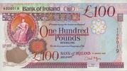 100 Pounds 01.3.2005 BANK OF IRELAND P.82/2005 unc/kassenfrisch  410,00 EUR  +  6,50 EUR shipping