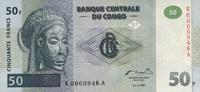 50 Francs 01.11.1997 Congo-Dem.Republik P.89a unc/kassenfrisch  50,00 EUR  +  6,50 EUR shipping