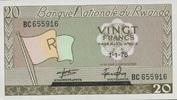 20 Francs 01.1.1976 Rwanda P.6e unc/kassenfrisch  6,50 EUR  +  6,50 EUR shipping